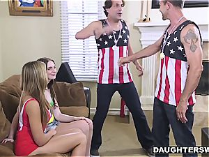 insane daughters-in-law have to fuck after losing an Olympic bet