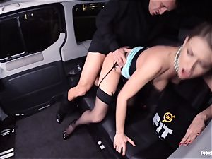 romped IN TRAFFIC - wondrous Russian damsel sizzling car bang