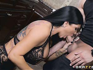 Romi Rain and Aubrey dark-hued penetrate after Romi blows Xander