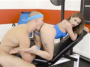 Sydney Cole takes a scorching length at the gym