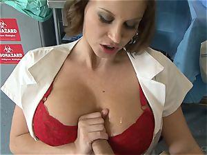 super hot nurse Sara Stone takes care of her favourite physician