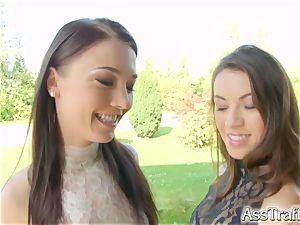 AssTraffic fantastic French honeys Angelik Duval and Tiffany doll