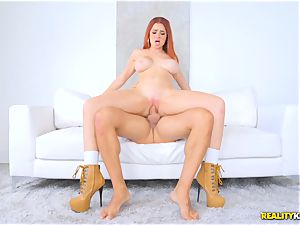 Skyla Novea bouncing on a phat boner