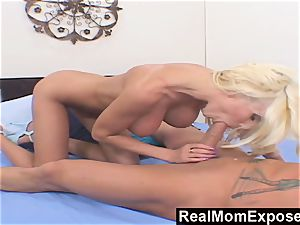RealMomExposed sate penetrate My hefty boobed mother