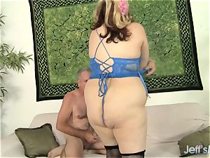 plump silly busty Bella Gets Down with a wild Geezer