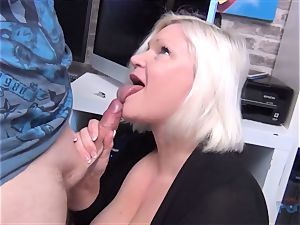 super hot milf Lacey Starr man meat deep-throating