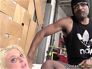Leya Falcon Gets butt-fucked By A dangled ebony guy