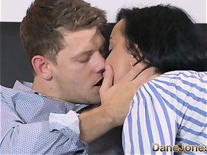 Dane Jones nasty dark-hued haired Russian has creampie