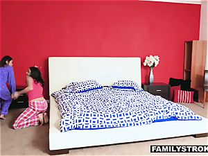 Slumber soiree nubile fuck-a-thon with a step-dad