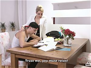 horny INLAWS - slim Czech blonde torrid nail with stepson