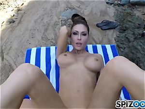 Beach ass Jessica Jaymes torn up deep in her uber-sexy clit cootchie