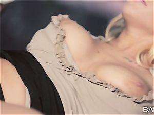 handsome secretary Kyra steaming plows her work fucking partner