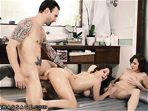 Caught My husband Showering with masseur and I Joined