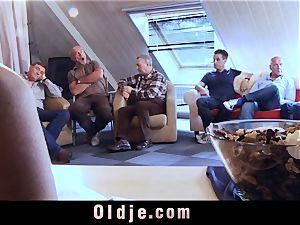 6 oldman fuckin' in group a stellar super-steamy towheaded