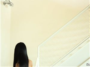 Sabrina Banks takes her man upstairs for a hot intercourse session