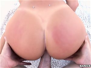 August Ames taking a massive man meat in her messy gash