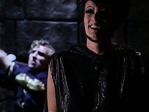Evil princess Stormy Daniels pummels the sumptuous prince