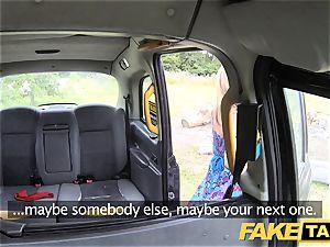 faux taxi Mum with innate knockers gets humungous brit salami
