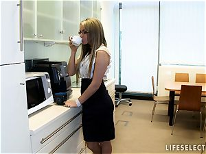 lovemaking in the Office with Aletta Ocean and Brandy sneer
