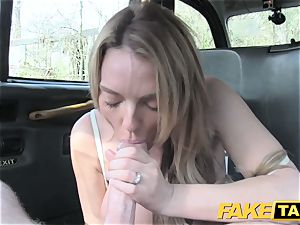 faux taxi beautiful Welsh milf with steaming body