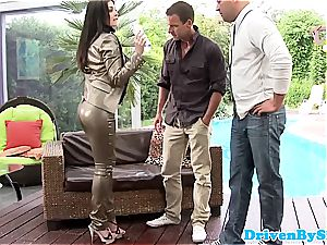 Bigtitted rich honey spitroasted and creamed